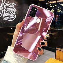 URFEDA Compatibel met Samsung Galaxy M30S/M21 Telefoongeval Diamond Glitter Case met Spiegeleffect Bling TPU Siliconen + D...