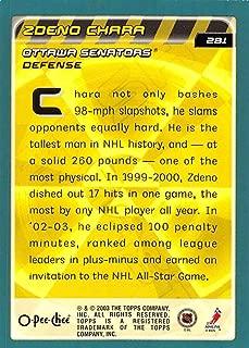 2003-04 O-Pee-Chee Hockey Card #281 Zdeno Chara Ottawa Senators Official NHL Trading Card