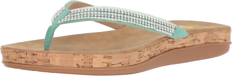 Volatile Womens Tira Flat Sandal