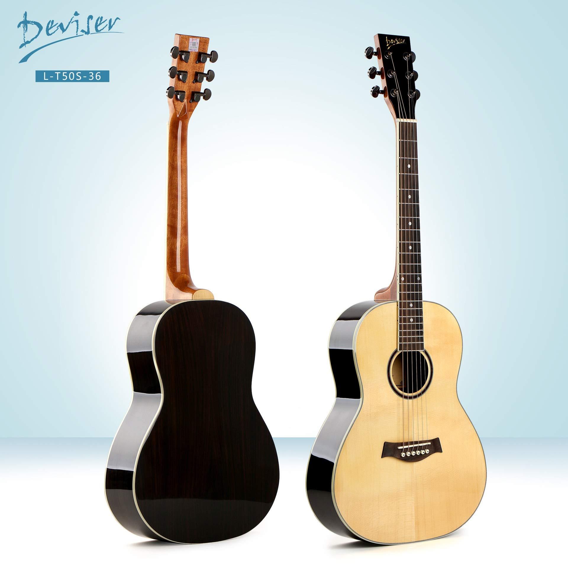 XUJJA - Guitarra acústica (Chapa de 91,44 cm, Madera de Abeto y ...