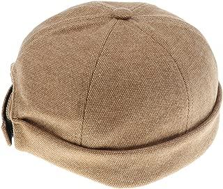 MagiDeal Men Woman Unisex Skullcap Sailor Cap Landlord Hat Beanie Rolled Cuff Retro HAT