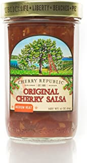 Cherry Republic Original Cherry Salsa - Medium Heat Salsa Mix with Authentic Michigan Cherries - Sweet & Spicy Fruit Salsa - Works Great as a Recipe Ingredient & Dip - 16 Ounces