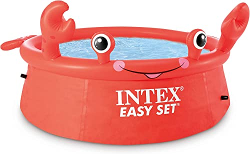 lowest Intex 2021 26100EH Happy Crab lowest Easy Set Ground Pool, Red online sale