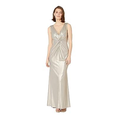 Calvin Klein Metallic Gown (Khaki) Women