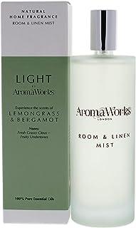 AromaWorks - Light Room and Linen Mist - Lemongrass & Bergamot - Natural Home Fragrance - Fresh Grassy Citrus - Fruity Und...