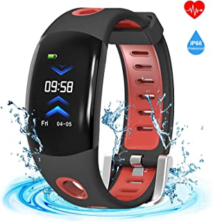 armo Fitness Tracker,Armor Activity Tracker Watch Smart Bracelet Band with 3D Dynamic UI Pedometer Auto Sleep Tracker Sedentary Alert Heart Rate Monitor Calls SMS Reminder (Red)