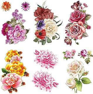 Yesallwas Blumen-temporäre Tattoos für Frauen, sexy, 6 St�