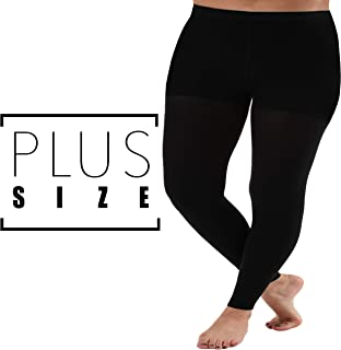 Graduated Compression Leggings with Control Top - Firm Support 20-30mmHg