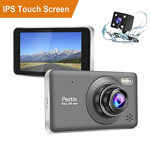 Dual Dash Cam Front and Rear, 1080p HD Car DVR Dashboard Camera Recorder with Night