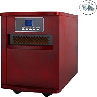 Eight24hours 5200 BTU Electric Portable Infrared Quartz Space Heater with Remote Control Red Only
