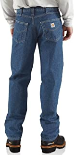 Men's Flame Resistant Utility Denim Jean Relaxed Fit