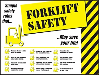 Safety Posters: Forklift Safety Rules Laminated Poster, 22