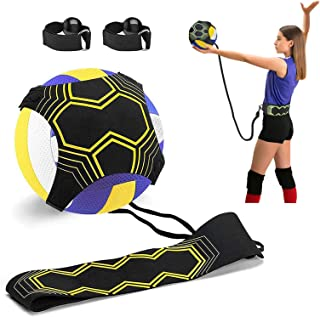 Volleyball Training Equipment Aid, Solo Soccer Trainer, Solo Practice Trainer for Serving, Setting, Spiking and Arm Swing,...