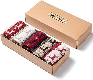 Diealles Shine 5 Pares Calcetines Termicos de Mujer, Calcetines de Lana Invierno Calcetines Colores Cálidos de Confort Cas...