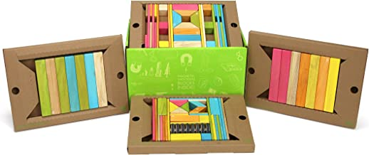 90 Piece Tegu Classroom Magnetic Wooden Block Set, Tints