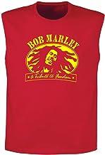 Art T-shirt, Camiseta sin Manga Bob Marley Freedom, Hombre