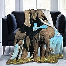 Plush Throw Velvet Blanket South Africa Elephant Fluffy Fleece Carpet Camping Lounging for Kids Durable Sleep Mat Pad Flannel Cover for Winter