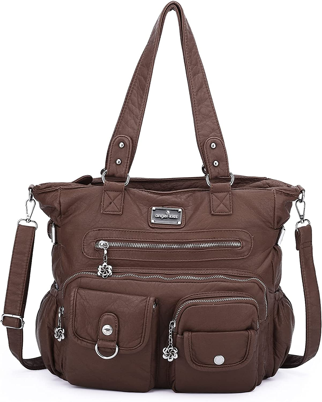 Direct stock discount Women Handbags Shoulder Bags PU Satchel Mutipoc New color Bag Tote Leather