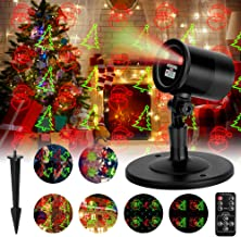 Oecalia Christmas Projector Light, Christmas Laser Lights, Waterproof LED Projector Lamp Indoor Outdoor Holiday Remote Control Light for Xmas Home Party Garden Landscape Wall Decorations SW-LL-01