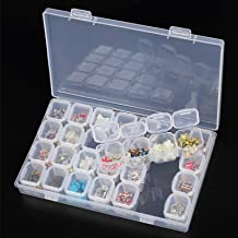 Clear Jewelry Box, EEEKit Clear Plastic 28 Slots Adjustable Jewelry Storage Box Case Bead Organizer Container
