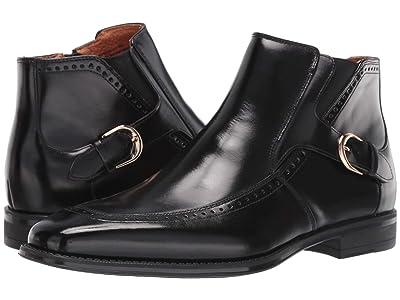 Stacy Adams Patton Moc Toe Zip Boot (Black) Men