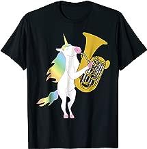 Beautiful Unicorn Playing Tuba Musician T-Shirt
