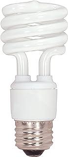 Satco S7218 13-Watt Medium Base T2 Mini Spiral, 4100K, 120V, Equivalent to 60-Watt Incandescent Lamp for Enclosed Fixtures