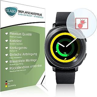 Slabo 2 x Pansarfolie kompatibel med Samsung Gear Sport (SM-R600) Skärmskydd Skyddsfilm Folie Shockproof KLAR