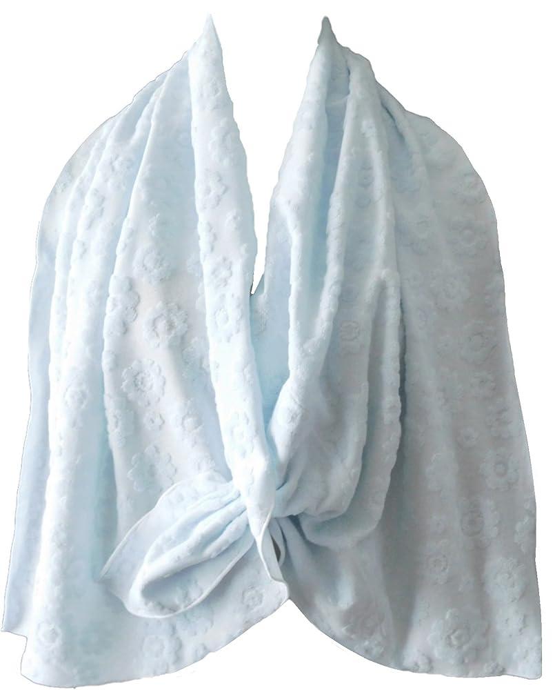 ルーキー異常な退化する乳がん術後 温泉旅行に <温泉タオルン> 単品 ブルー 温泉タオル 巻きタオル ラップタオル プリンセスのんの