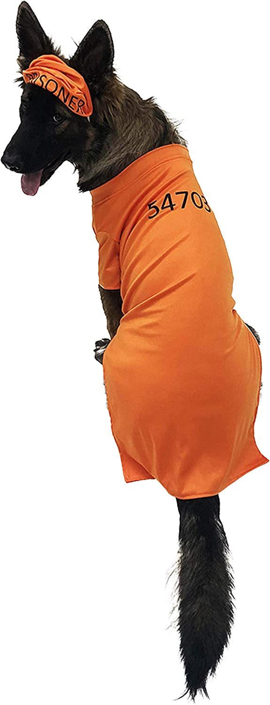 Midlee orange Prisoner Costume (XXXLarge)