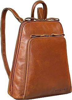 STILORD 'Martha' Lederrucksack Frauen Vintage Daypack Damen Rucksack City Ausgehen Shopping Arbeit Rucksacktasche Leder, F...