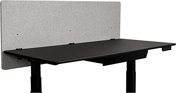 ReFocus Acoustic Rear Mount Desk Dividers Desk Privacy Panel Reduce Noise And Visual Distractions With This Easy To Install Desk Screen 60 X 24 Cool Gray