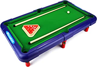 Superior Billiards Novelty Toy Billiard Pool Table Game w/ Table, Full Set of Billiard Balls, 2 Cues, Triangle