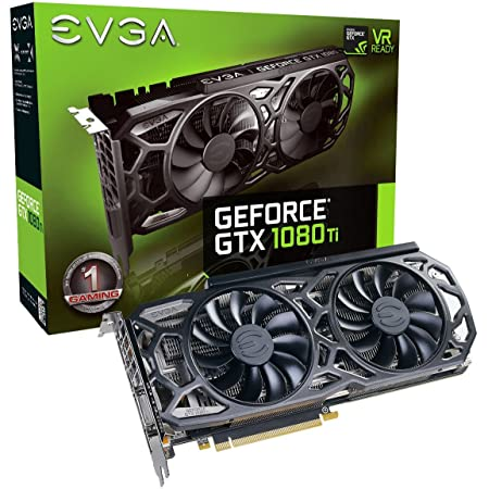 EVGA GeForce GTX 1080 Ti SC Black Edition Gaming, 11GB GDDR5X, iCX Cooler & LED, Optimized Airflow Design, Interlaced Pin Fin Graphics Card 11G-P4-6393-KR (Renewed)