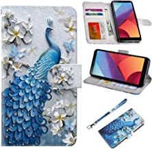UrSpeedtekLive LG G6 Case, LG G6(2017) Premium PU Leather Wristlet Flip Wallet Case Cover with Card Slots & Stand - Peacock