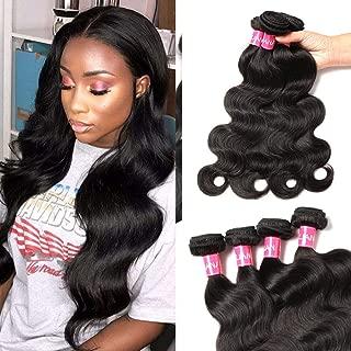 Eliana Hair Brazilian Body Wave 4 Bundles 20 22 24 26inch 8A Unprocessed Virgin Brazilian Body Wave Human Hair Natural Black Brazilian Virgin Body Wave Weft