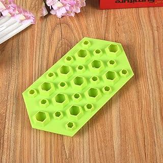 FairytaleMM Molde de silicona Diamond Hexagon Cake Mold-green
