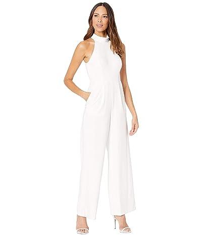 Calvin Klein Mock Neck Jumpsuit (Cream) Women