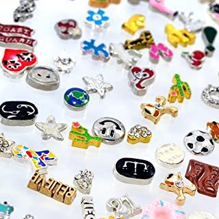 Wholesale 100pcs DIY Floating Charms for Lockets Living Memory Themes Varied