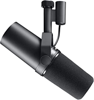 Shure SHR-SM7B Cardioid Dynamic Vocal Microphone with Switchable Response, Black