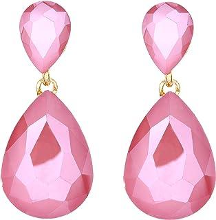 9b600bbd54f0 Amazon.es: Pendientes Nacar - Cristal: Joyería
