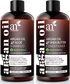 ArtNaturals Organic Moroccan Argan Oil Shampoo and Conditioner Set - (2 x 16 Fl Oz / 473ml) - Sulfate Free - Volumizing & ...