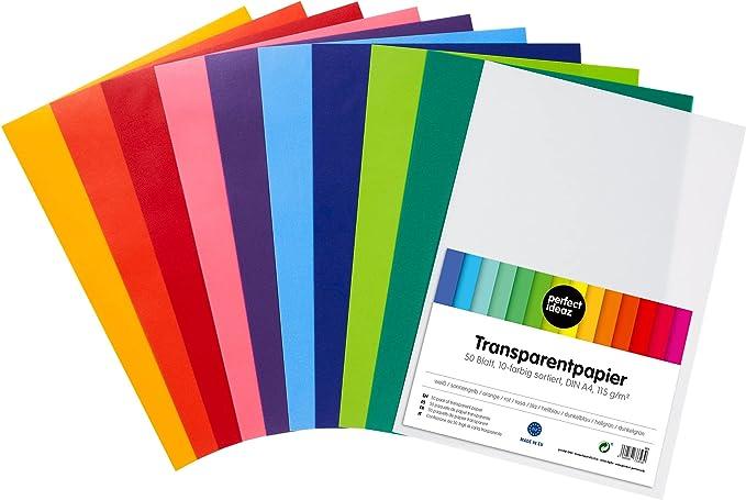 39 opinioni per perfect ideaz 50 fogli di carta velina DIN-A4, carta pergamenata 115 g/m²