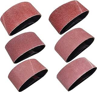 Sackorange 18 PCS 2-1/2 inch x 16 inch Abrasive Sanding Belts - 3 Each of 60 80 120 150 240 400 Grit Aluminum Oxide Sanding Belts For Belt sander (2.5x16in)