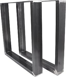 Magnetic Mobel Table Châssis Design Industriel Plateau pour Table Design rétro métal Acier Table à Profil 10x4 cm (Clearcoat (Transparent), 90x72)