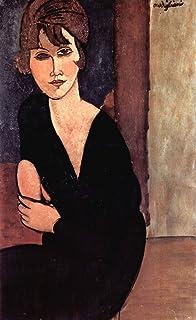 Le Musée de sortie–Modigliani–Portrait of Madame Reynouard–Toile (61x 45,7cm)