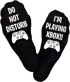 Fancyagift, Calcetines para juegos de Xbox, Do Not Disturb, Fans de fútbol, Xbox, calcetines Xbox, calcetines para juegos, calcetines de Navidad, regalo de cumpleaños, jugador, relleno de calcetines