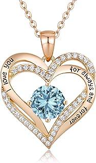 گردنبند آویز طلای نقره استرلینگ CDE Forever Love 925 گردنبند آویز برای زنان با هدیه تولد جواهرات زیرکونیا مکعب 5A