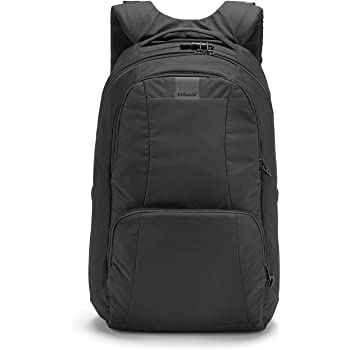 "Pacsafe Metrosafe LS450 25 Liter Anti Theft Laptop Backpack - with Padded 15"" Laptop Sleeve"