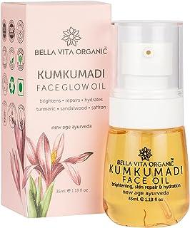 Bella Vita Organic Kumkumadi Face Glow Oil for Dry to Normal Skin with Sandalwood, Saffron, Turmeric & Sesame Oil 35 ml